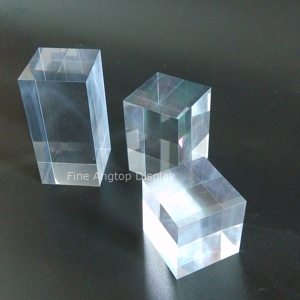 50 50 50 80 100mm Transparent Acrylic Counter Display Block For font b Jewelry b font