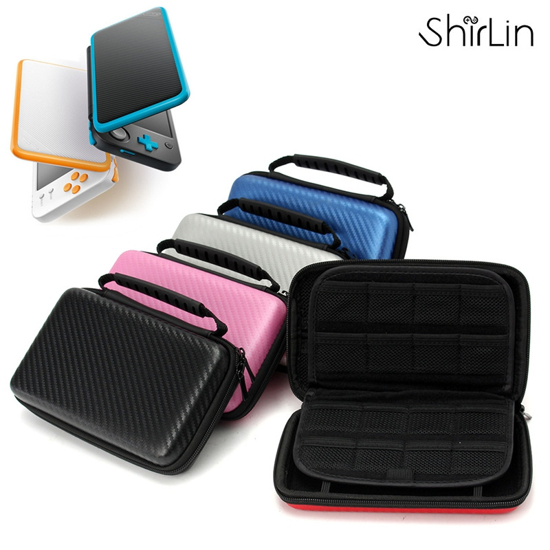 EVA Hard Cover Handle Bag For Nintendo New 2DS LL XL Handle Game Player Carbon Fiber
