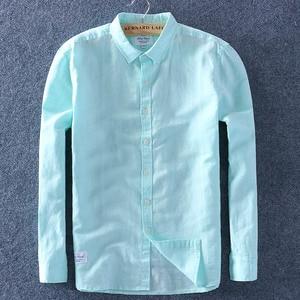 Image 5 - Schinteon 男性春夏コットンシャツスリム平方襟快適なアンダーシャツの男性プラスサイズ