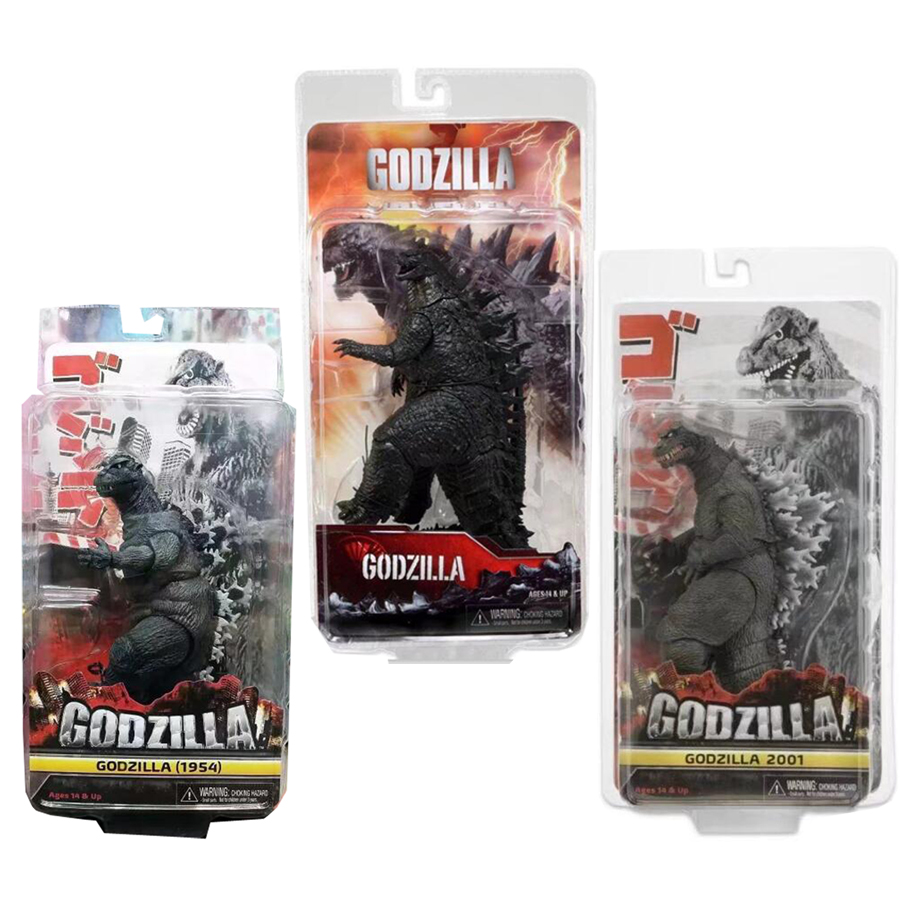 3 Types Godzilla Figure 2001 1954 2014 PVC Action Figures Collectible Model Toy Free Shipping shfiguarts batman injustice ver pvc action figure collectible model toy 16cm kt1840