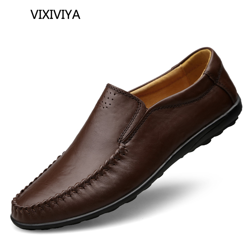 Adam ayakkabı deri hakiki mokasen 2018 yeni stil erkek erkekler - Erkek Ayakkabıları