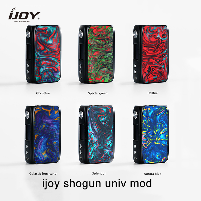 Newest Ijoy SHOGUN UNIV Mod 180w Electronic Cigarette Box Mod Powered By Dual 18650 For KATANA SUBOHM Tank Vs DRAG 157w Drag 2