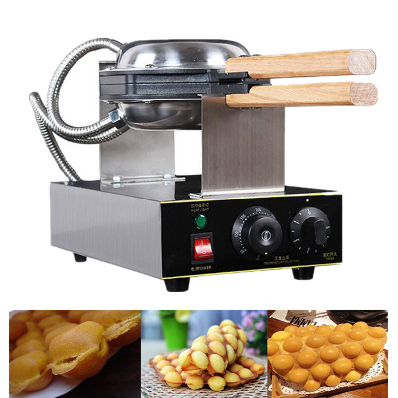 Фотография Promotion Price Stainless Steel Commercial Use 110v 220v Electric Eggettes Egg Waffle Maker For Sale