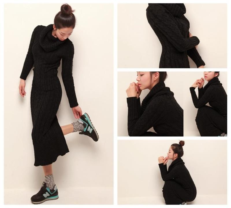 OHCLOTHING 19 European winter wool knitting female thickening noble temperament self-cultivation long bottom Sweaters 26