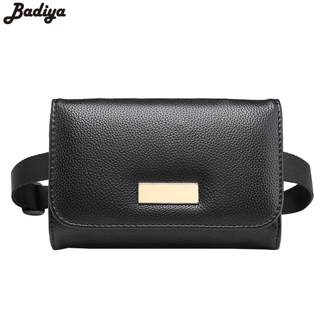 978ce347aa5a US  9.89 34% OFF Famous Designer Brand Men s Waist Bag Design Fashion Belt  Pouch Black PU Leather Solid Men Small Travel Bags Waist Packs-in Waist ...