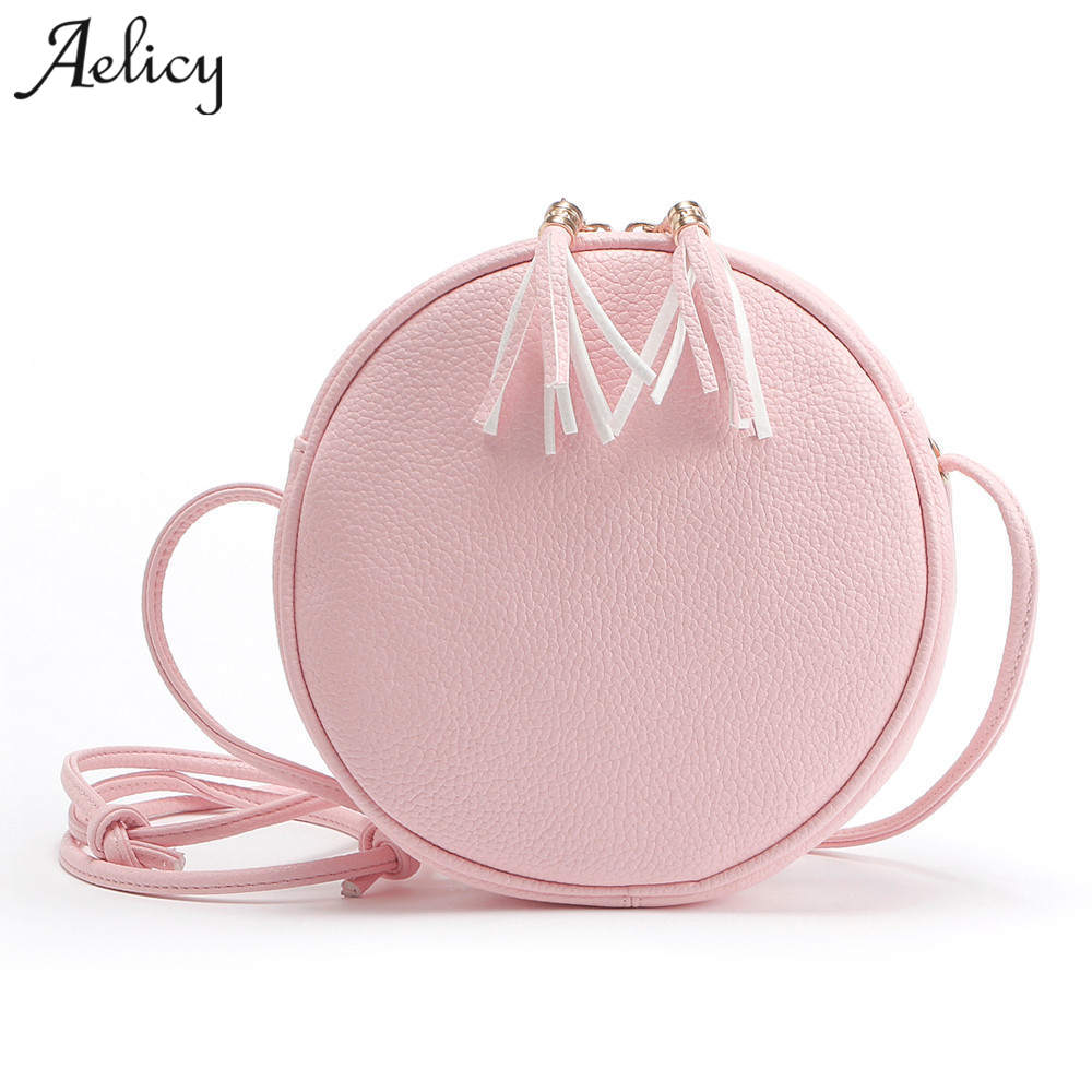 Aelicy New Fashion Mini PU Leather Handbag High Quality Shoulder Cross-body Bag Small Round Package Ladies Crossbody Bags Small fashion pu leather metal handle circular bag small round package shoulder bag girls crossbody tote messenger bags