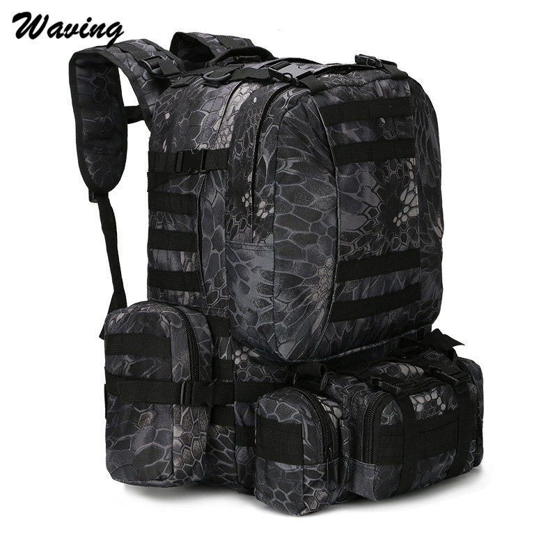 Waterproof Travel Backpack Cycling Bike Outdoor Cycling Travel Hiking Cycling Bag Multifunction Tactical Backpack 3