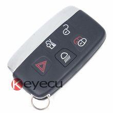 Новый Smart Remote Key Fob 5 Button 433 МГц для Jaguar XF XJ XL 2013-2014 НЕТ ЛОГОТИПА