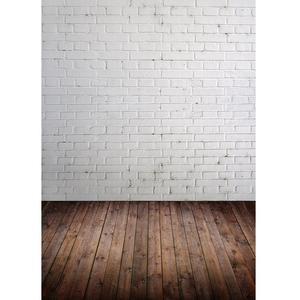 Image 1 - White Brick Wall Brown Floor Photography Background for Photo Studio Vinyl Cloth Portrait Photo Backdrop for Kid Baby Photophone
