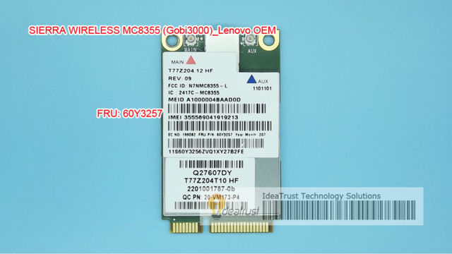 Gobi3000 MC8355 FRU 60Y3257 GPS 3G WWAN Card for W530 T430 X230 T430 L420  L530 T420i L430 X220 MC8355 x230i-in Network Cards from Computer & Office