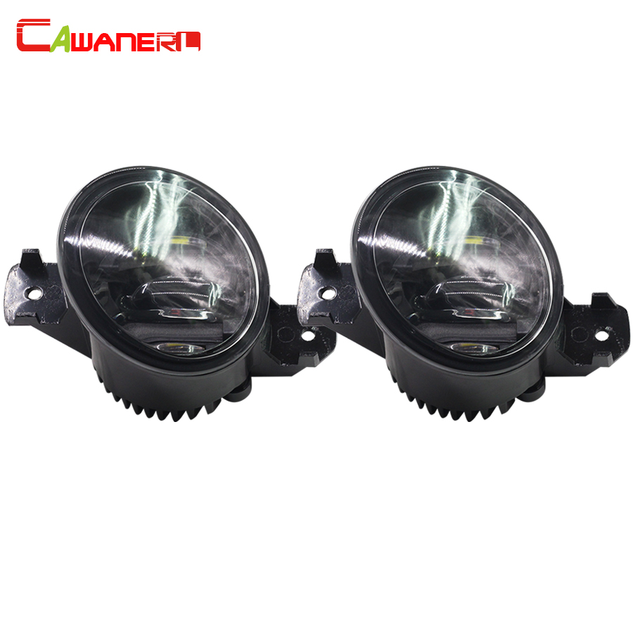 Cawanerl 2 X Car LED Fog Light Daytime Running Lamp DRL White For Nissan X-Trail Dulias Qashqai Altima Micra Sunny Versa qvvcev 2pcs new car led fog lamps 60w 9005 hb3 auto foglight drl headlight daytime running light lamp bulb pure white dc12v