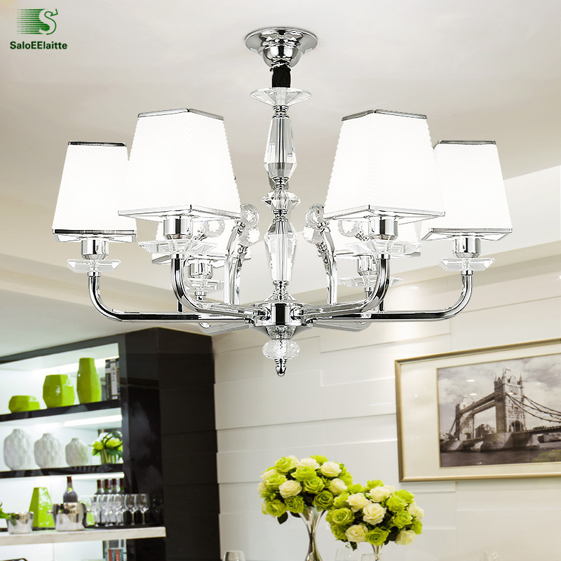 Modern Lustre Crystal Led Chandelier Fixtures Chrome Metal Dining Room Led Pendant Chandeliers Lighting Bedroom Hanging LightsModern Lustre Crystal Led Chandelier Fixtures Chrome Metal Dining Room Led Pendant Chandeliers Lighting Bedroom Hanging Lights