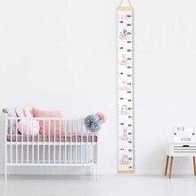 Детская линейка для роста, Таблица Размеров для роста, таблица для измерения роста, Настенная Наклейка для детской комнаты, украшение для дома