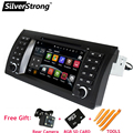 """FreeShipping Android HD QuadCore 7"""" Car DVD for BMW E39 E53 X5 car dvd gps for E39 E53 X5 with WIFI Navi Radio BT miralink 1din"""
