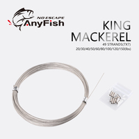 ANYFISH  KING MACKEREL 10m 49 Strand 7x7 Stainless Steel Shark fishing leader line wire cable fishing line Fishing Accessory|Fishing Lines|Sports & Entertainment -