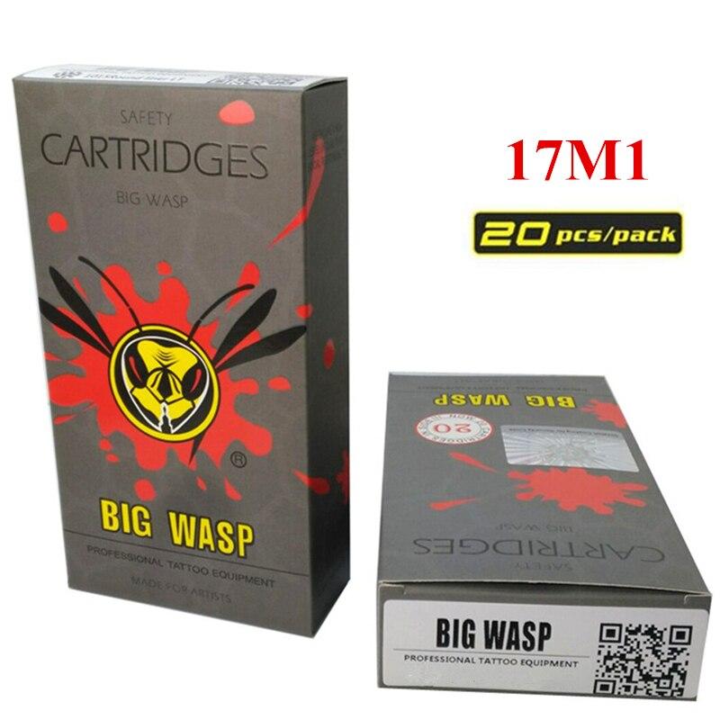 Tattoo Nadel 20 Teile/schachtel Versorgung Für Tattoo Maschine 17m1 Gastfreundlich Bigwasp Einweg Grau Patrone Nadel 17 Einzigen Stack Magnum