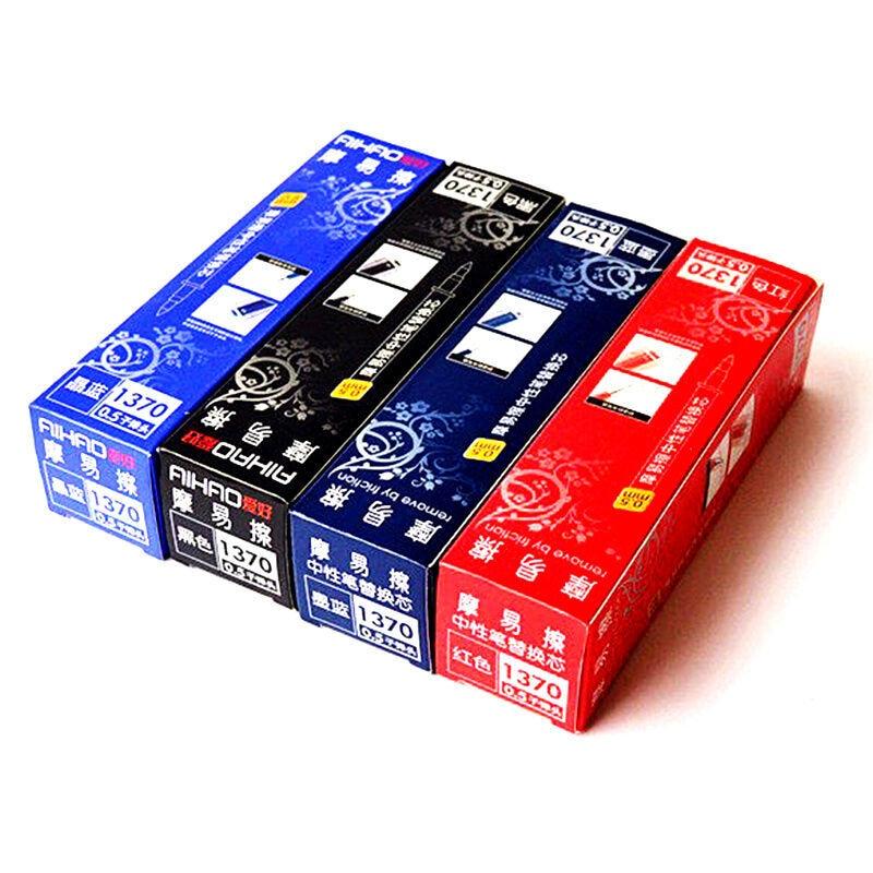 Aihao 1370 0.5mm erasable gel pen refills blue black dark-blue red ink office & school stationery 20pcs/lot