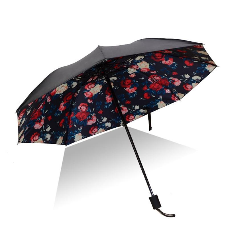 408c5d6e4e5f US $17.69 50% OFF Travel Portable Parasol Women Umbrella Flower Windproof  Umbrella UV Protection Rain Folding Ladies Small Sun Umbrella U5B178-in ...
