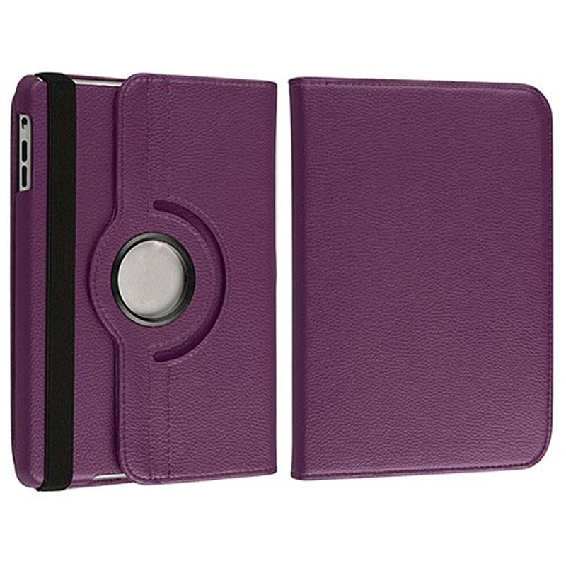 EC2 HIPEREAL Fashion Leather 360 Degree Rotating Leather Case Cover Swivel Stand For iPad Mini Purple Mar18 Drop Ship