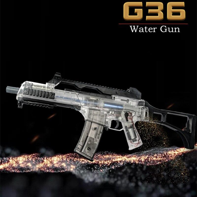 Nouveau déversoir G36 seconde électrique Transparent bombe à eau jouet pistolet en direct CS assaut Sniper arme pistolet à eau enfants en plein air jouet