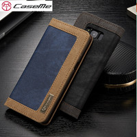 CaseMe For Samsung Note 8 Case Luxury Leather Magnetic Denim Canva Wallet Stand Case For Samsung