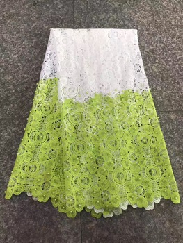 High Quality For Women Cotton Dry Lace Fabric Clothes Swiss Voile With Stone Swiss Voile Lace In Switzerland +Aso oke  AMZ872