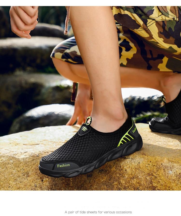 HTB1eagNN7voK1RjSZFwq6AiCFXaV Men Casual Shoes Sneakers Fashion Light Breathable Summer Sandals Outdoor Beach Vacation Mesh Shoes Zapatos De Hombre Men Shoes