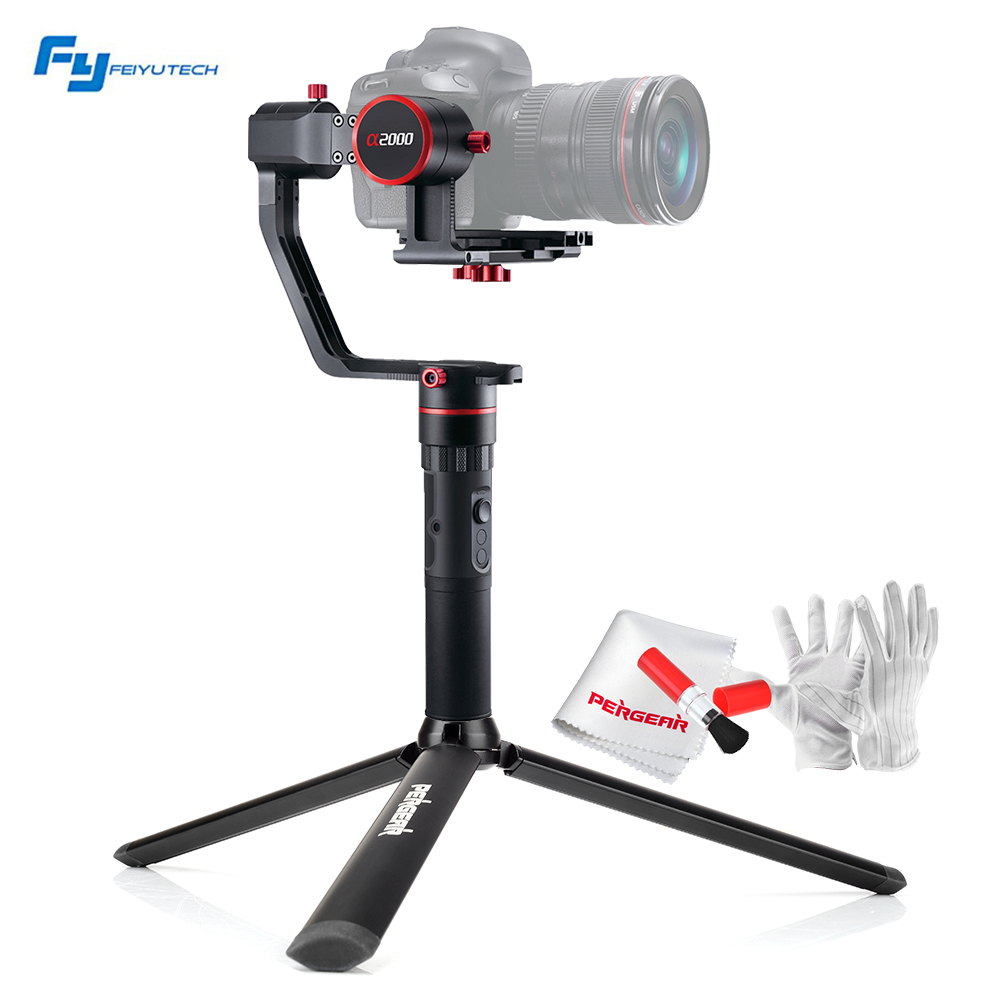 Feiyutech Feiyu a2000 3-Axis Gimbal Cameras Stabilizer Payload 2Kg for Canon 5D Series SONY A7 Series a6500 Panasonic GH4/GH5 beholder ds1 3 axis handhled gimbal stabilzier for canon 5d 6d 7d dslr gh4 gh7 nikon d810 d800 dmc sony a7 nex series