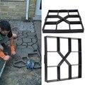 DIY Пластиковая форма для изготовления дорожек вручную тротуарная цементная каменная дорожная форма бетонные формы инструмент для садовой ...