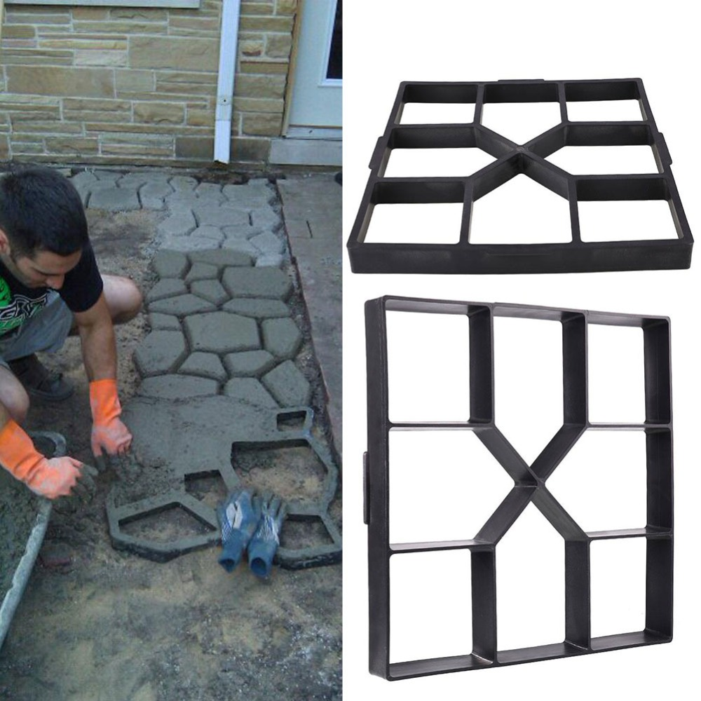 DIY Plastic Path Maker Mold Manually Paving Cement Brick Stone Road Mold Concrete Molds Tool for Garden Paving Decor Accessory