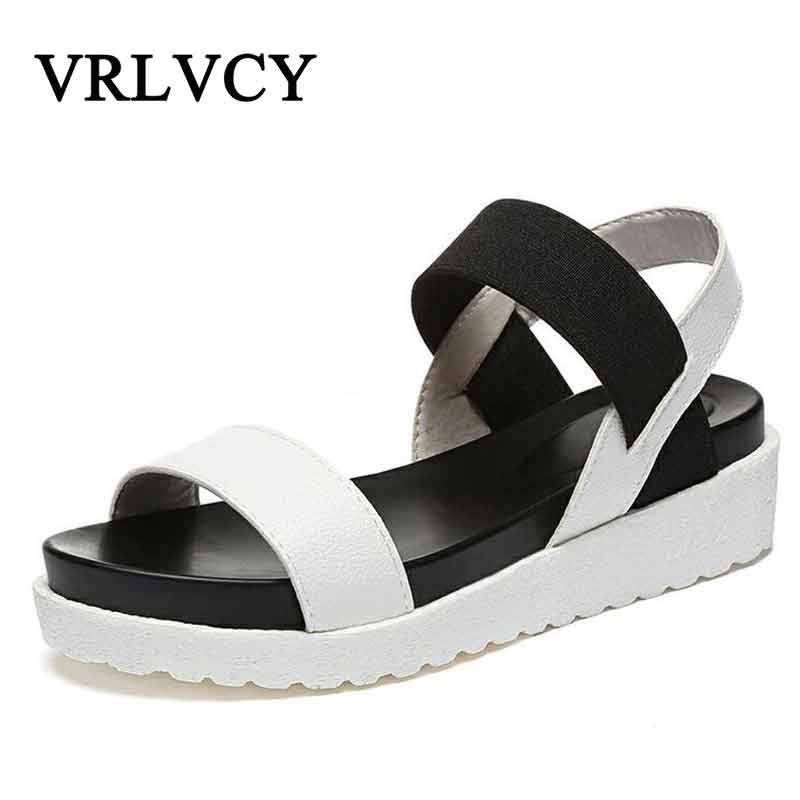 цена Summer Sandals For Women New Shoes Peep-toe Sandalias Flat Shoes Roman Sandals Shoes Woman Mujer Ladies Flip Flops Footwear