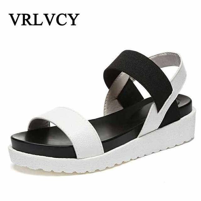 For New Flat Peep Sandalias Shoes Roman Toe Summer Woman Women Sandals  CxwU5a 41408e28a0a1