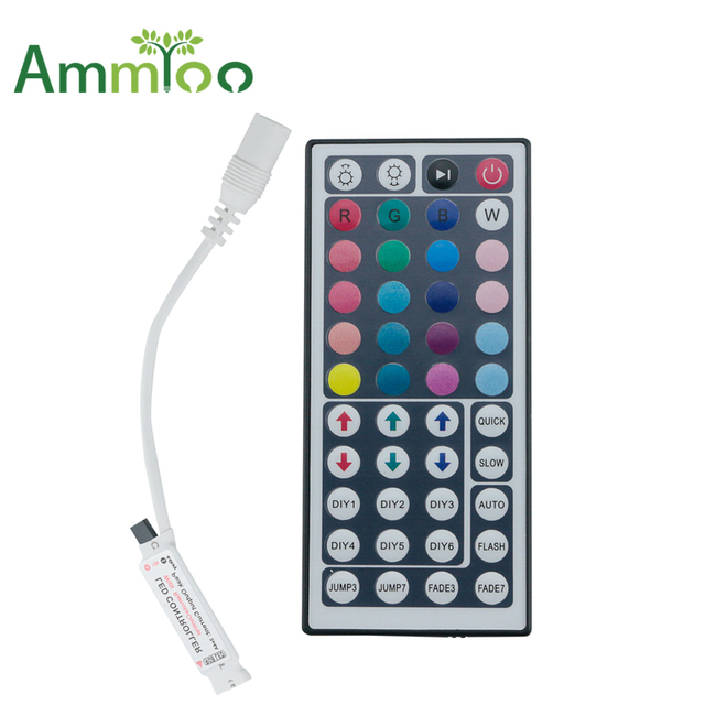 Ammtoo dc12v mini 44key 24key box ir remote controller for 3528 5050 ammtoo dc12v mini 44key 24key box ir remote controller for 3528 5050 rgb led strip lights aloadofball Image collections