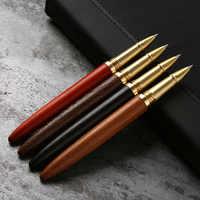 Alta qualidade 0.5mm tinta preta caneta esferográfica de madeira de luxo stylo pennen boligramos kugelschreiber canetas penna kalem canetas 03665