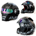 Tactical proteção legal homem de ferro capacete tatico Paintball Airsoft CS capacete Da Motocicleta meio capacete