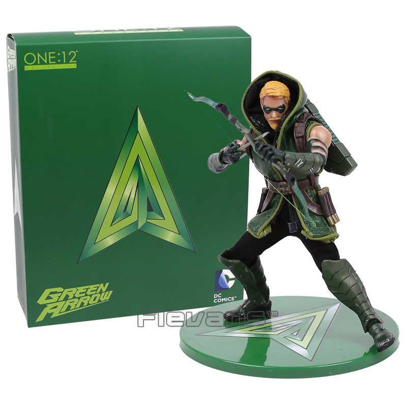 MEZCO DC COMICS Green Arrow One:12 Collective Figure Model Toy (with real clothing) 16cm green arrow year one