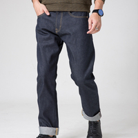 Доброжелательные обезьяна 100% хлопок красный мужские джинсы мужские винтажные сырья мешковатые джинсы бизнес мужские джинсы