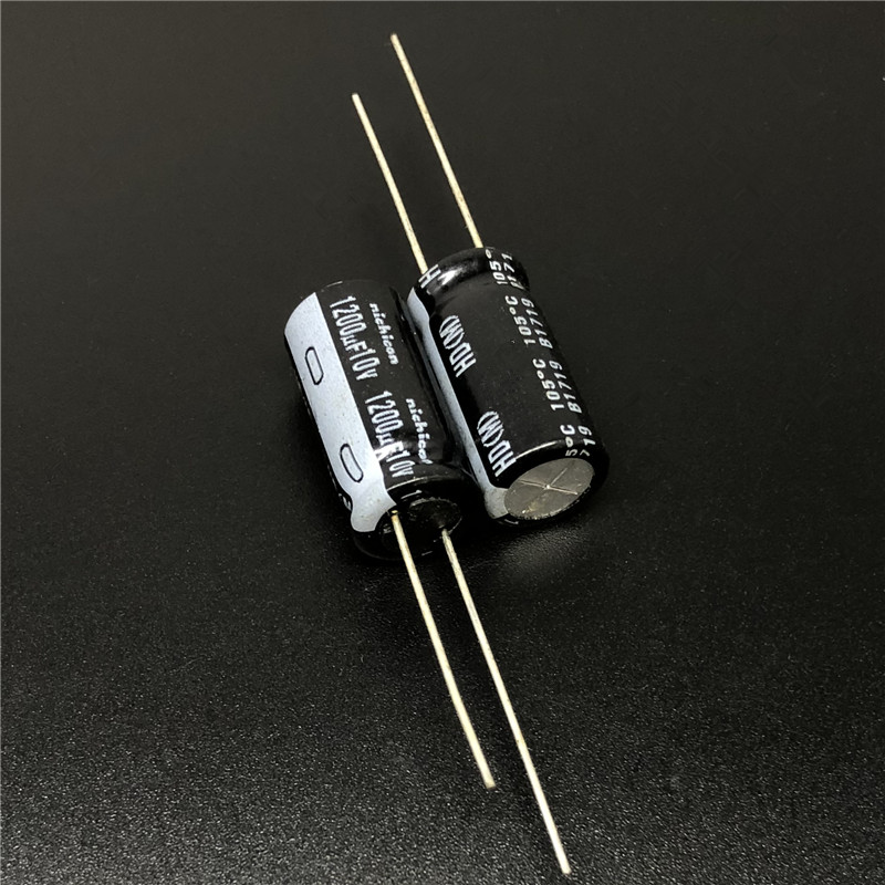 5pcs/50pcs 1200uF 10V NICHICON HD Series 10x20mm Extremely Low Impedance 10V1200uF Aluminum Electrolytic Capacitor