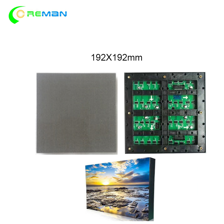 View the TV 192 192mm 64 64pixels Outdoor SMD P3 led module full color