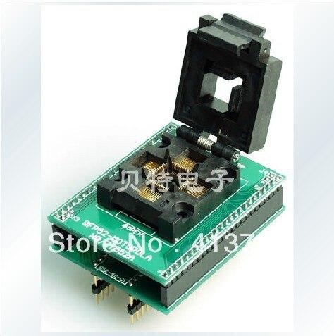 Ucos dedicated IC QFP52 riser block, ZY552A block burning test, programming samsung rs 552 nruasl