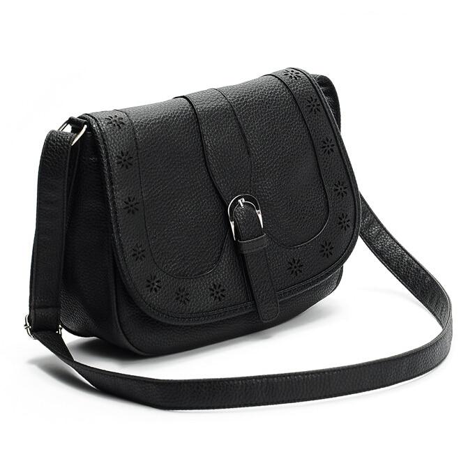 New 2017 women Vintage messenger bags women shoulder bag Pu leather handbags ladies fashion hollow out Black handbag Crossbody