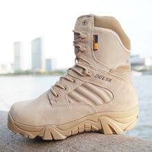 Invierno/otoño de Los Hombres de Calidad Marca de Cuero Militar Botas de Desierto botas de Combate Táctico de la Fuerza Especial de Barcos Zapatos Al Aire Libre Botas de Nieve