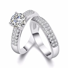2 Pcs Wedding Crystal Couple Rings for Men and Women Gifts for Women Jewellery Friendship Ring Bijouterie Ringen