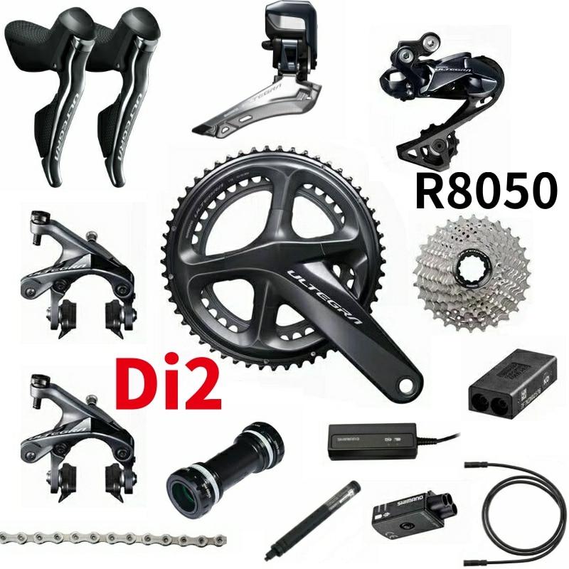 Shimano Ultegra R8050 Di2 2x11-Speed Groupset Bicicleta de Estrada Groupset 170 50-34 53-39 Bicicleta Conjunto Grupo 2*11 velocidade