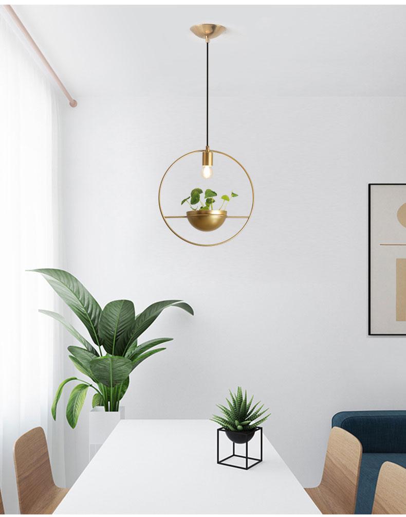 北欧餐厅灯简约创意个性吧台单头床头奶茶店服装店小吊灯植物灯具-tmall_01