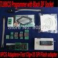 USB Bios Programador TL866CS com Preto ZIF Soquete + 9 pcs adaptadores + clipe de teste + 25 adaptador de Flash SPI suporte de programação in-circuit