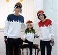 Семья одежда рождественская елка снег толстовка семейный комплект одежды для матери отца сын одежда HP187