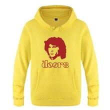 Jim Morrison Hoodie Cotton Winter Teenages The Doors Jim Morrison Sweatershirt Pullover With Hood For Men