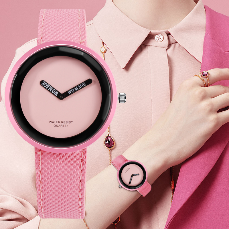 Fashion Women's Watches Ladies Colorful Watch Leather Women Wrist Watch Clock Simple Quartz Watch Reloj Mujer Zegarek Damski