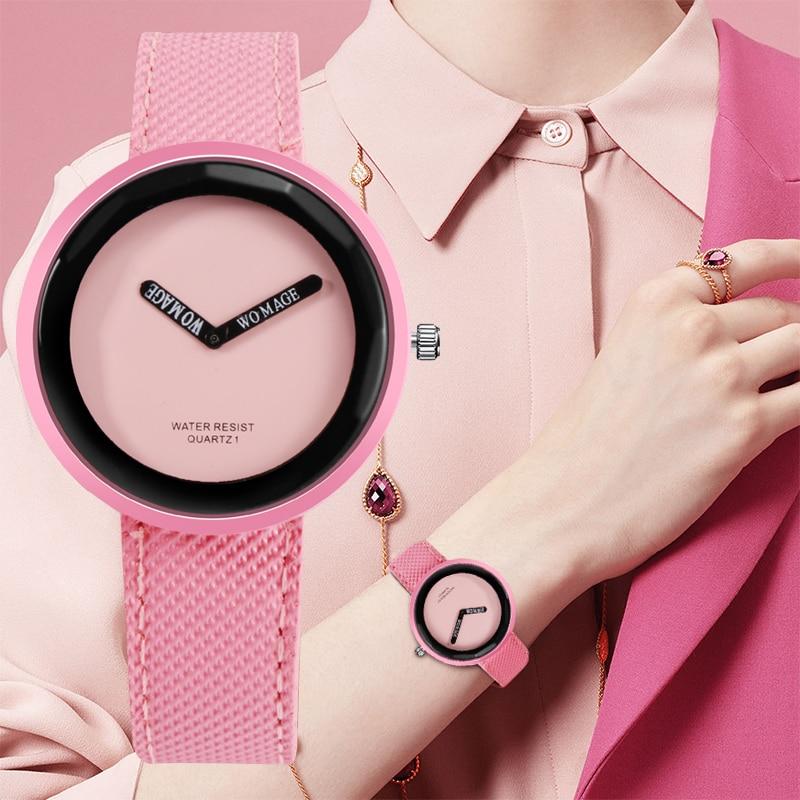 Fashion Women's Watches Ladies Colorful Watch Leather Women Wrist Watch Clock Simple Quartz Watch reloj mujer zegarek damski